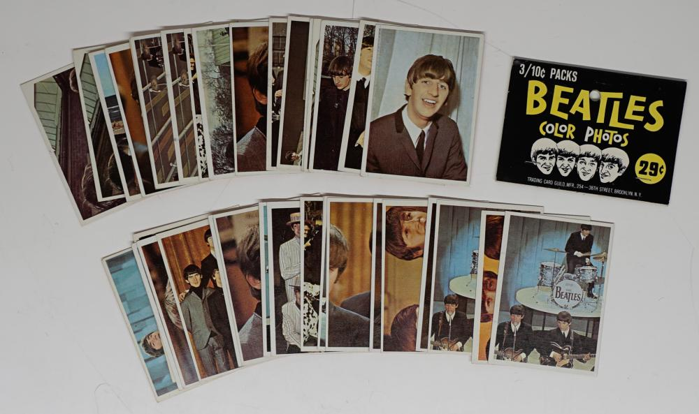 Lot 40A: Beatles Color Cards Trading Cards VG-EX/EX (37)