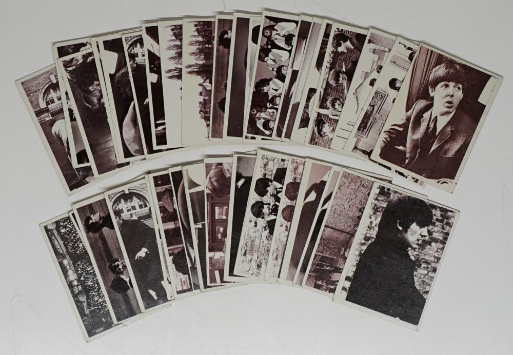 Lot 40E: Beatles Hard Day's Night Trading Cards (43)