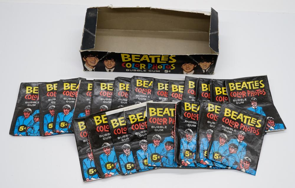Beatles Topps Color Photos Wax Box and Wrappers