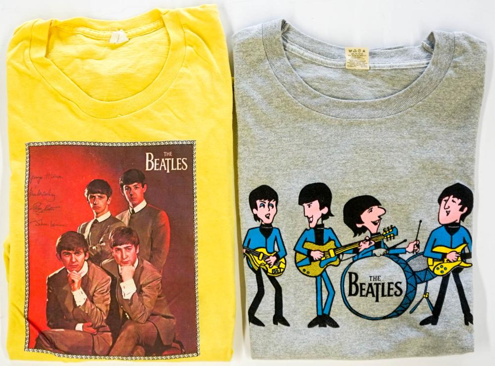 Lot 49A: Two Beatles T-Shirts Adult L Made in U.S.A.