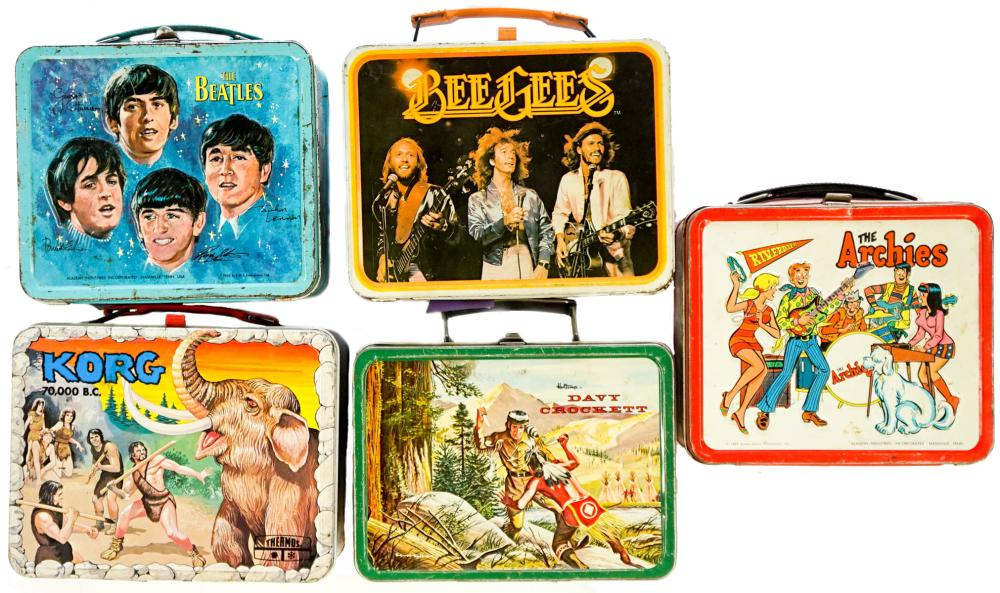 Five Vintage Lunchboxes, The Beatles and more