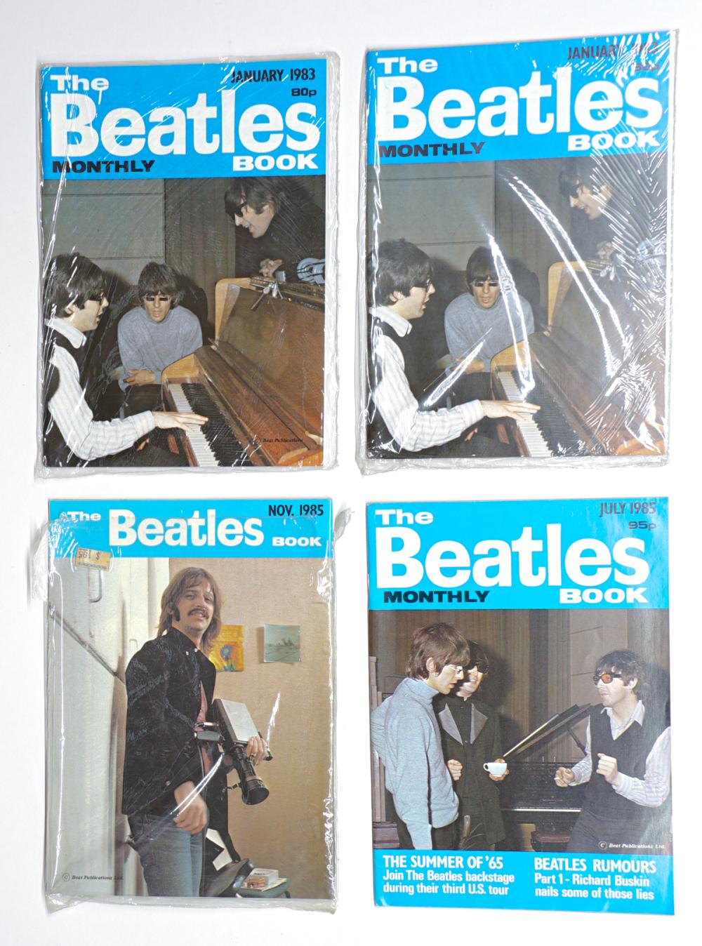 Lot 51: The Beatles Monthly Book Small Magazines (8)