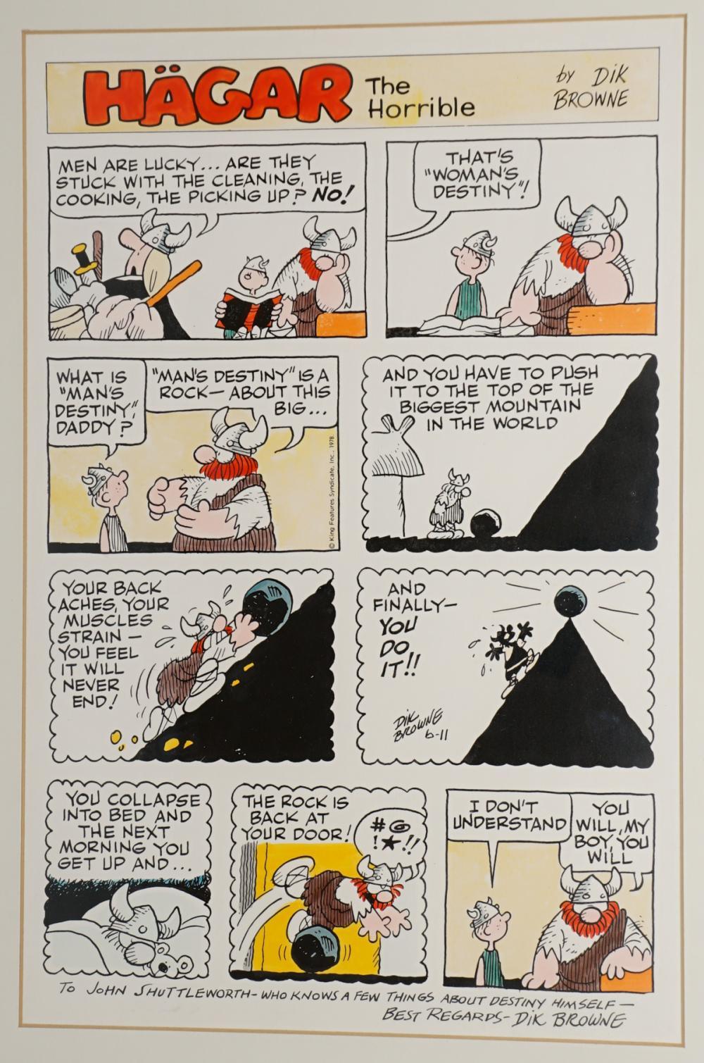 Hagar The Horrible Sunday June 11, 1978 Art
