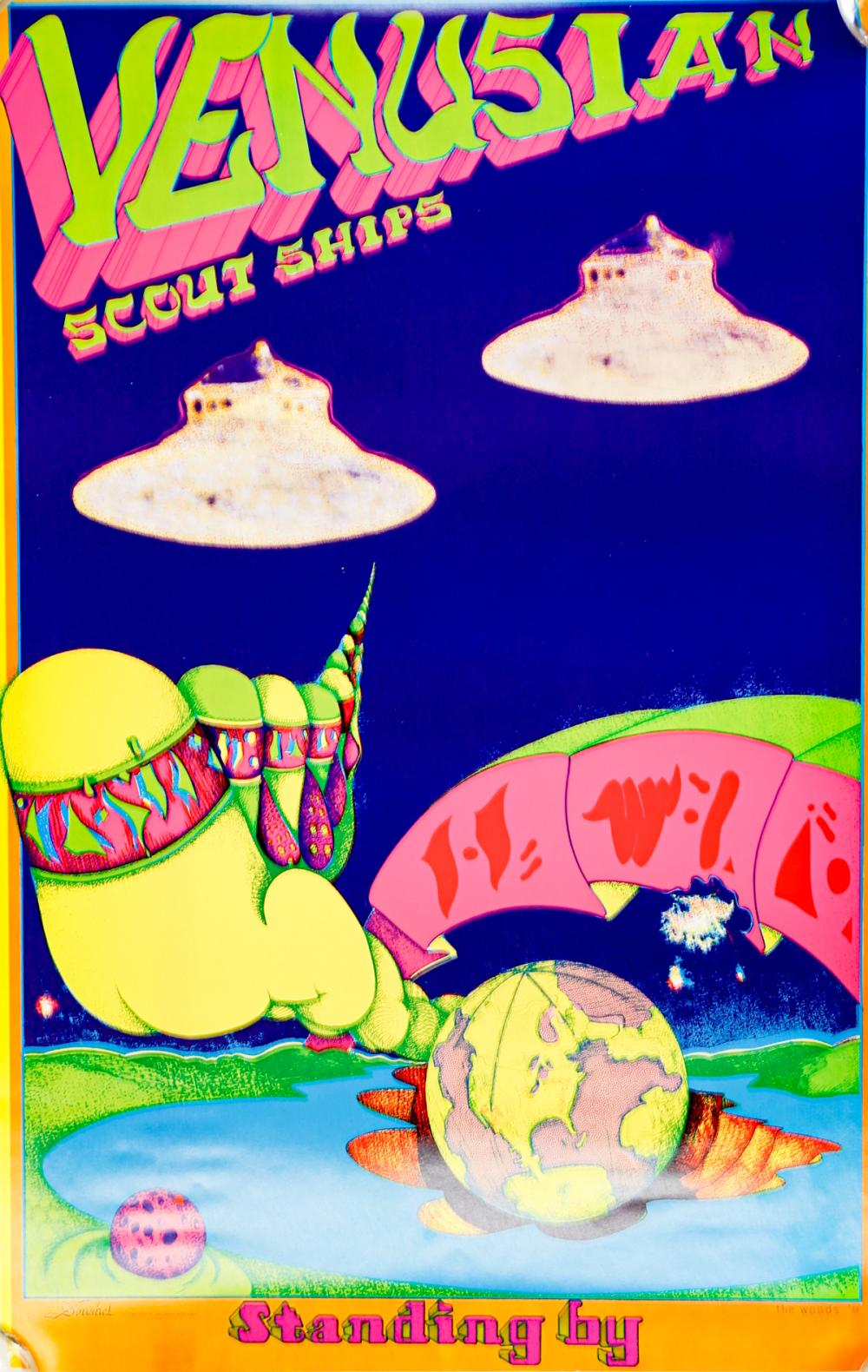 Lot 134A: Venusian Scout Ships Poster. 1967