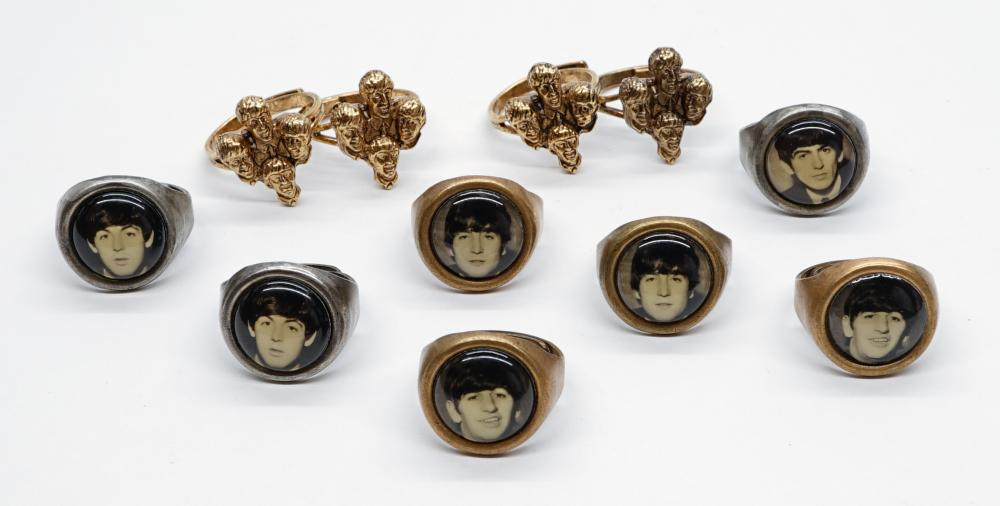 Lot 143: The Beatles Souvenir Rings (11)