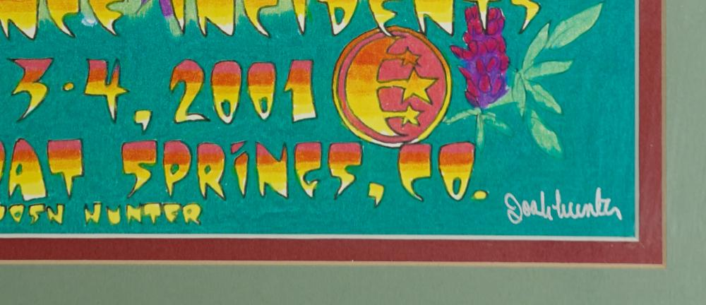 Lot 136: String Cheese Incident Poster Signed Josh Hunter