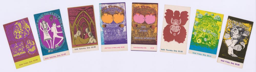 Lot 138: Bill Graham Presents Concert Tickets (8)