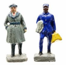 Lot 151: Composition or Paper Mache Figures (6)