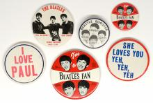 Lot 146: The Beatles Pinback Buttons (6)