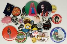 Lot 147: Beatles and Rock 'n Roll Buttons (36)