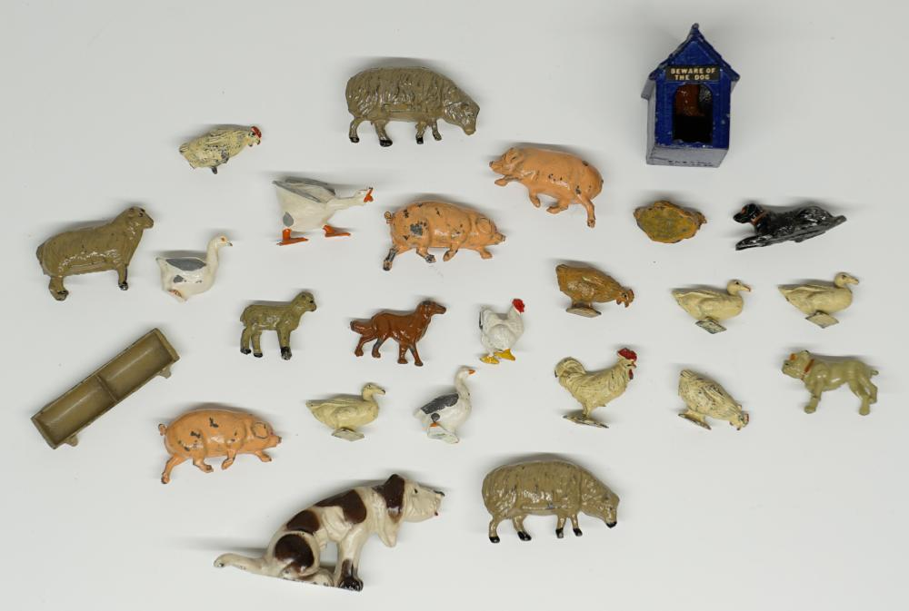 Vintage Lead Animal Figures in Assorted Sizes