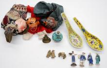 Lot 174: Group of Chinese and Asian Figures, Porcelain etc.