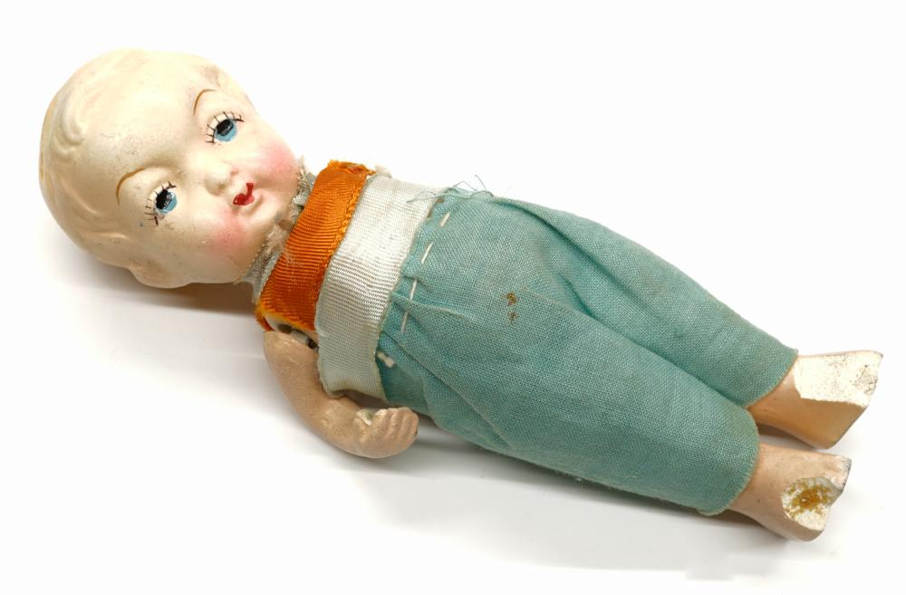 Lot 172: Vintage Bisque and Composition Dolls
