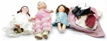 Lot 180: Vintage Dolls and clothing