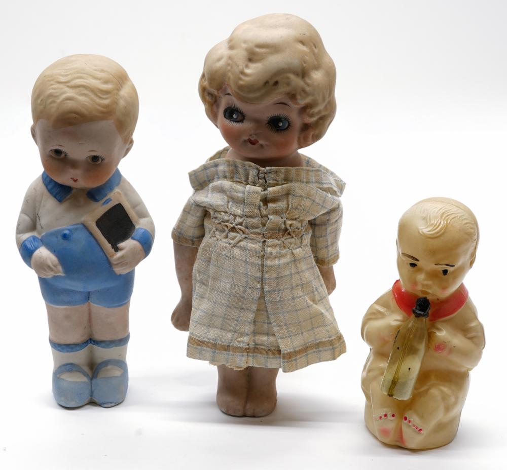 Lot 183: Vintage Bisque Dolls and more