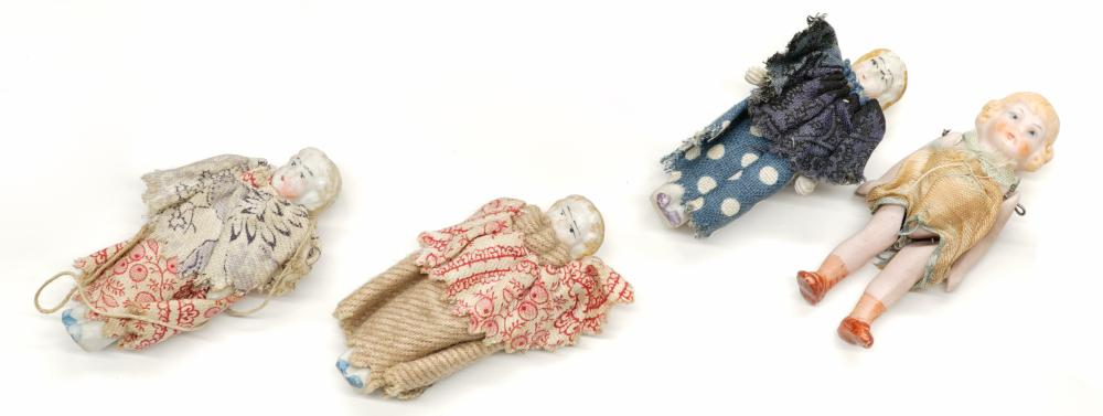 Lot 188: Estate Collection of old Bisque Small Dolls