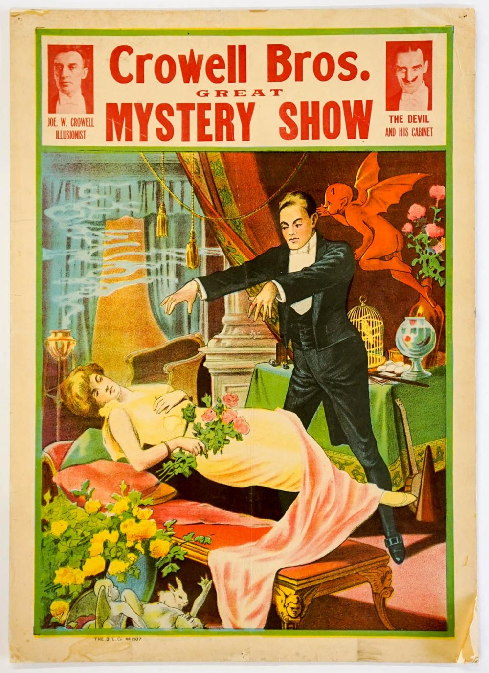 Lot 200D: Crowell Bros. Mystery Show Poster
