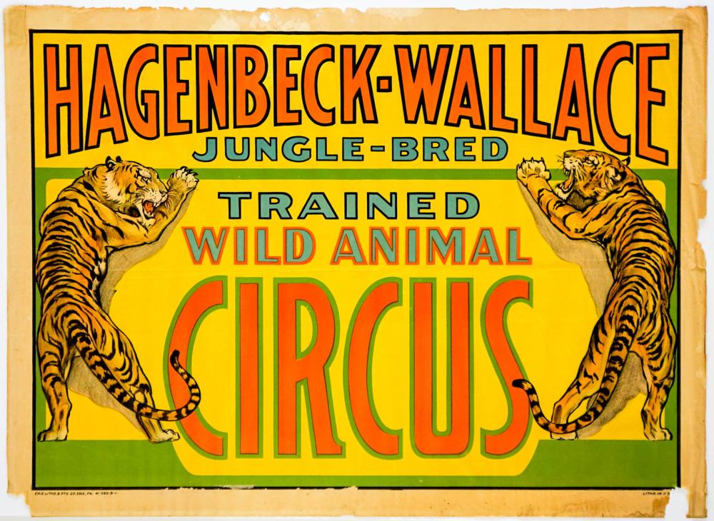 Lot 200C: Hagenbeck-Wallace Circus Poster