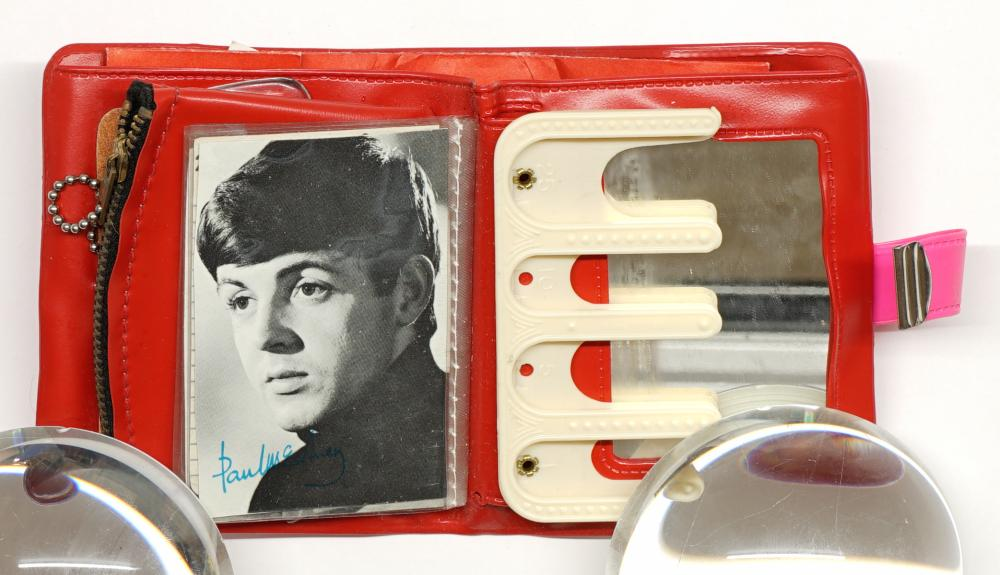 Lot 236: Beatles Vintage Wallet and Bank