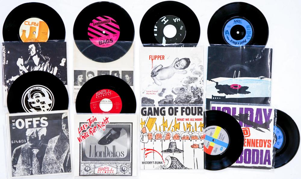 Lot 246: New Wave, Punk Rock (8) 45's Off's and More