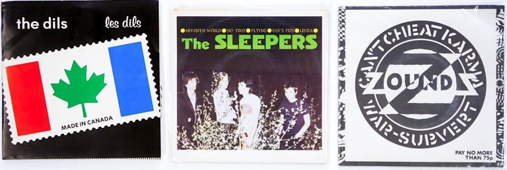 Lot 251: Punk (3) 45's The Dils, The Sleepers