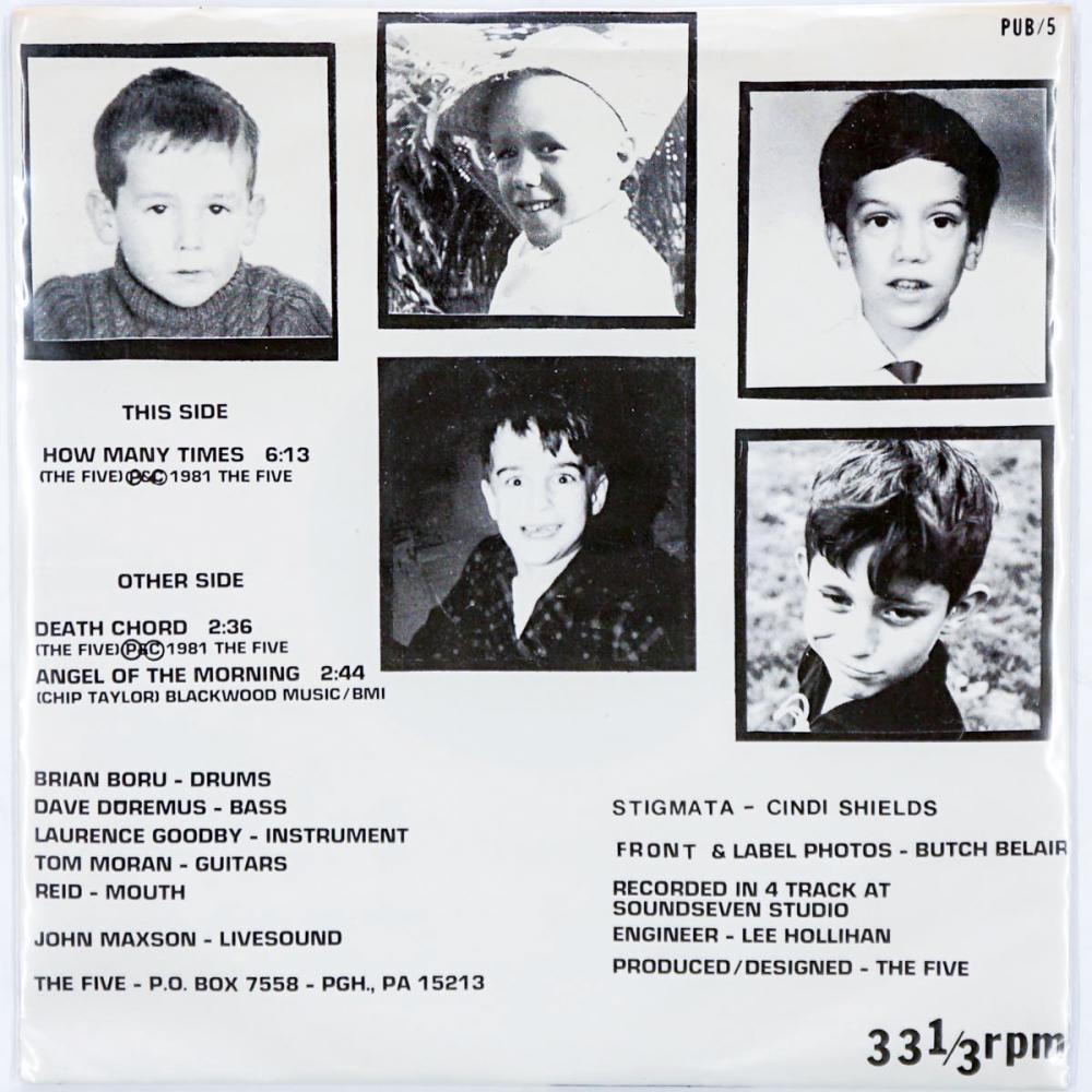 Lot 254: The Five 7 inch 33 1/3 RPM Record
