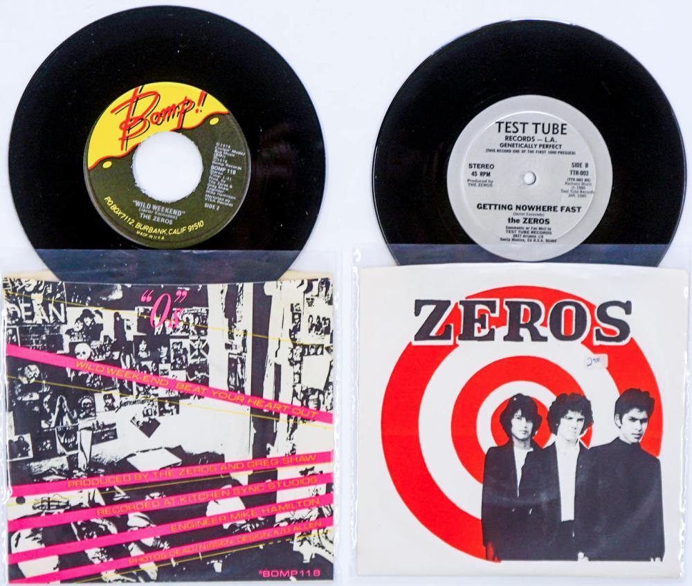 Lot 252: The Zeros (2) 45 RPM Records