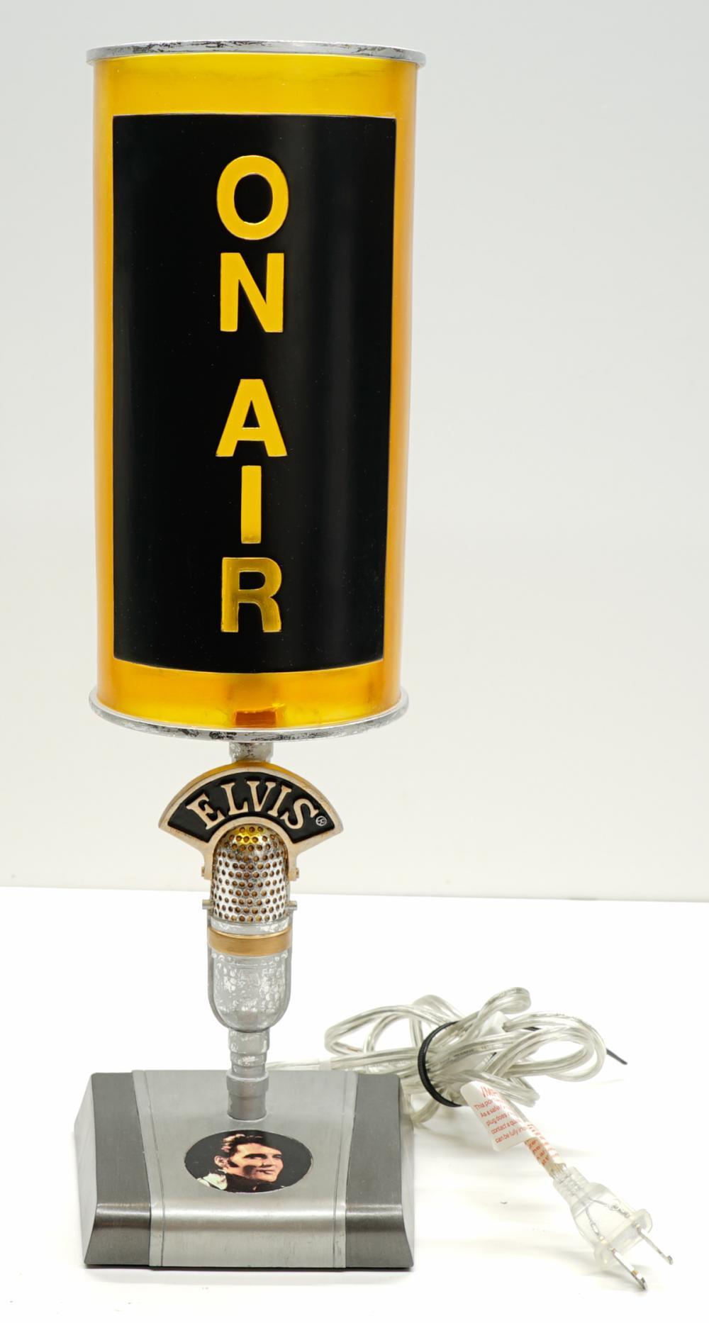 Lot 267: Elvis Presley Microphone Lamp