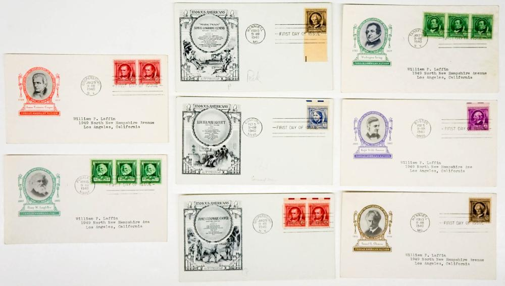 Lot 281: 1938-40 Famous Americans First Day Covers (16)