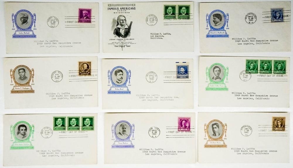 Lot 282: 1940 Famous Americans First Day Covers (23)