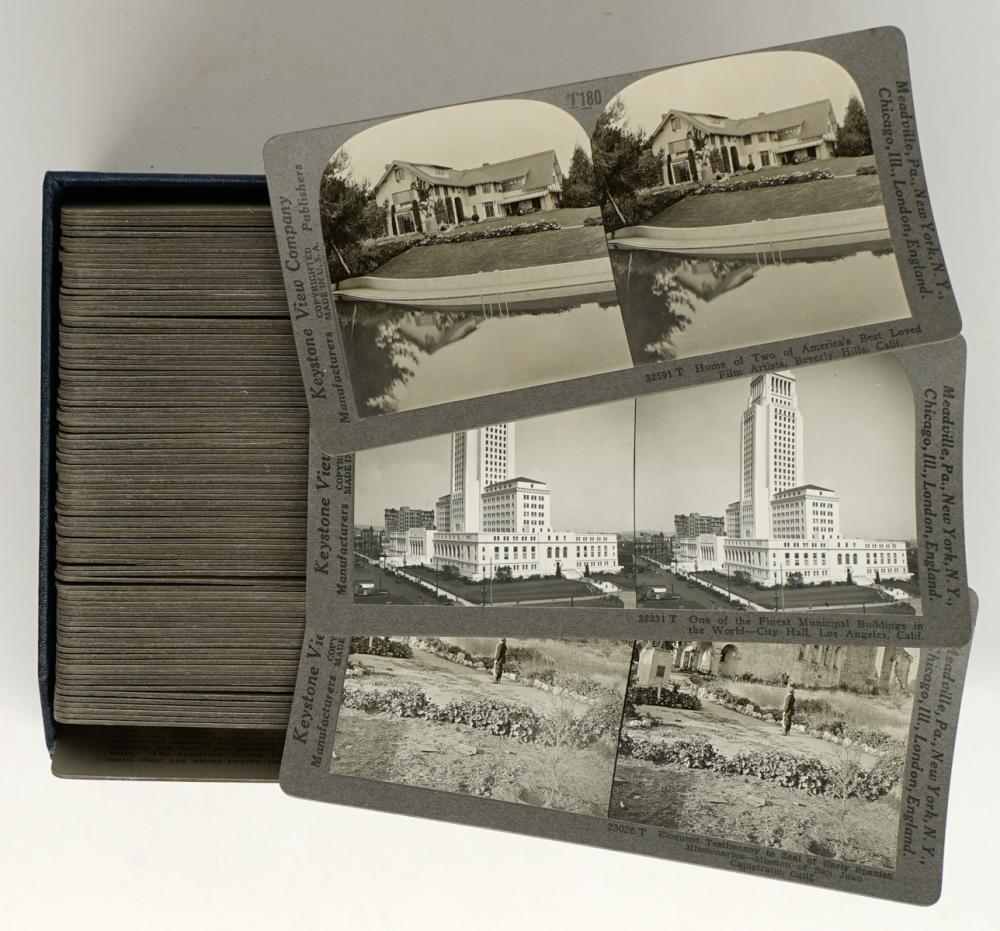 Lot 289: Antique Stereoviews [Travel Set ] (100)