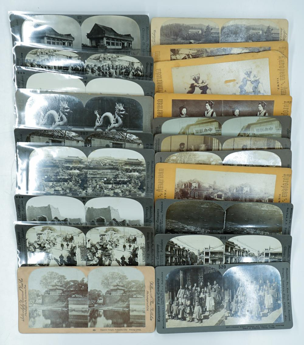 Lot 306: Antique Stereoviews [Asian] (20)