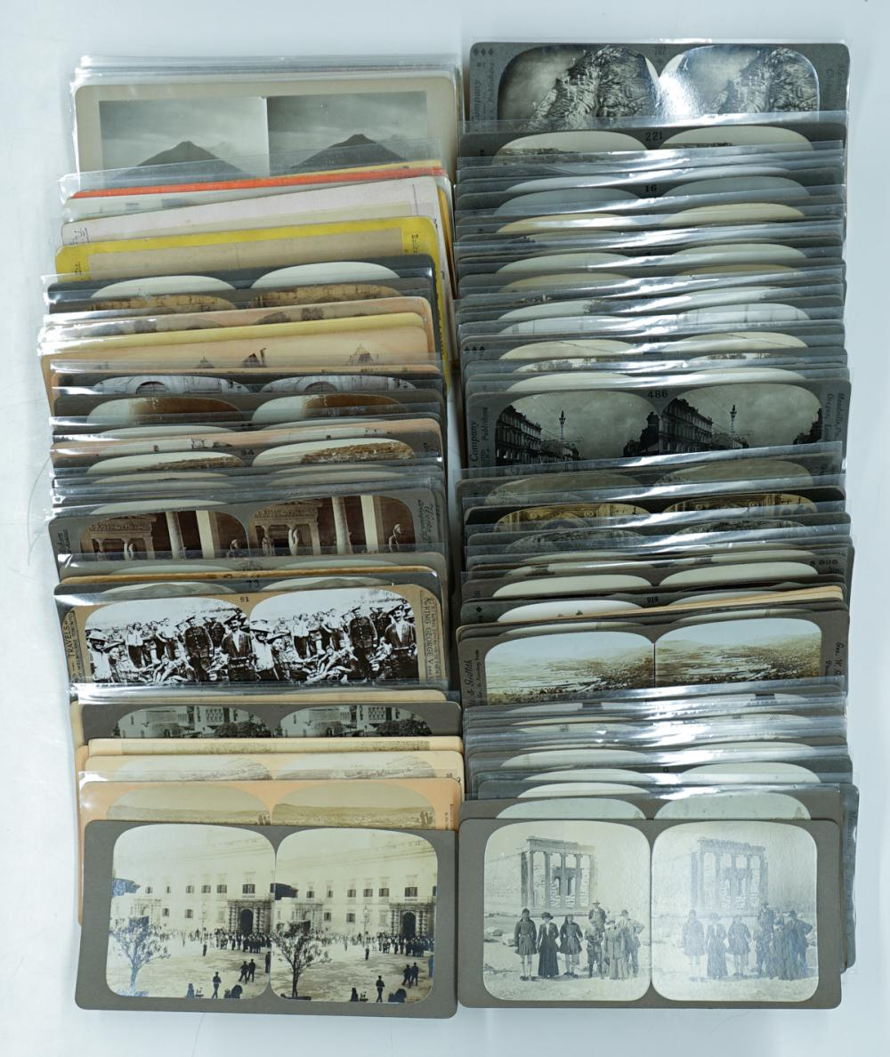 Lot 307: Antique Stereoviews [Foreign Views] (94)