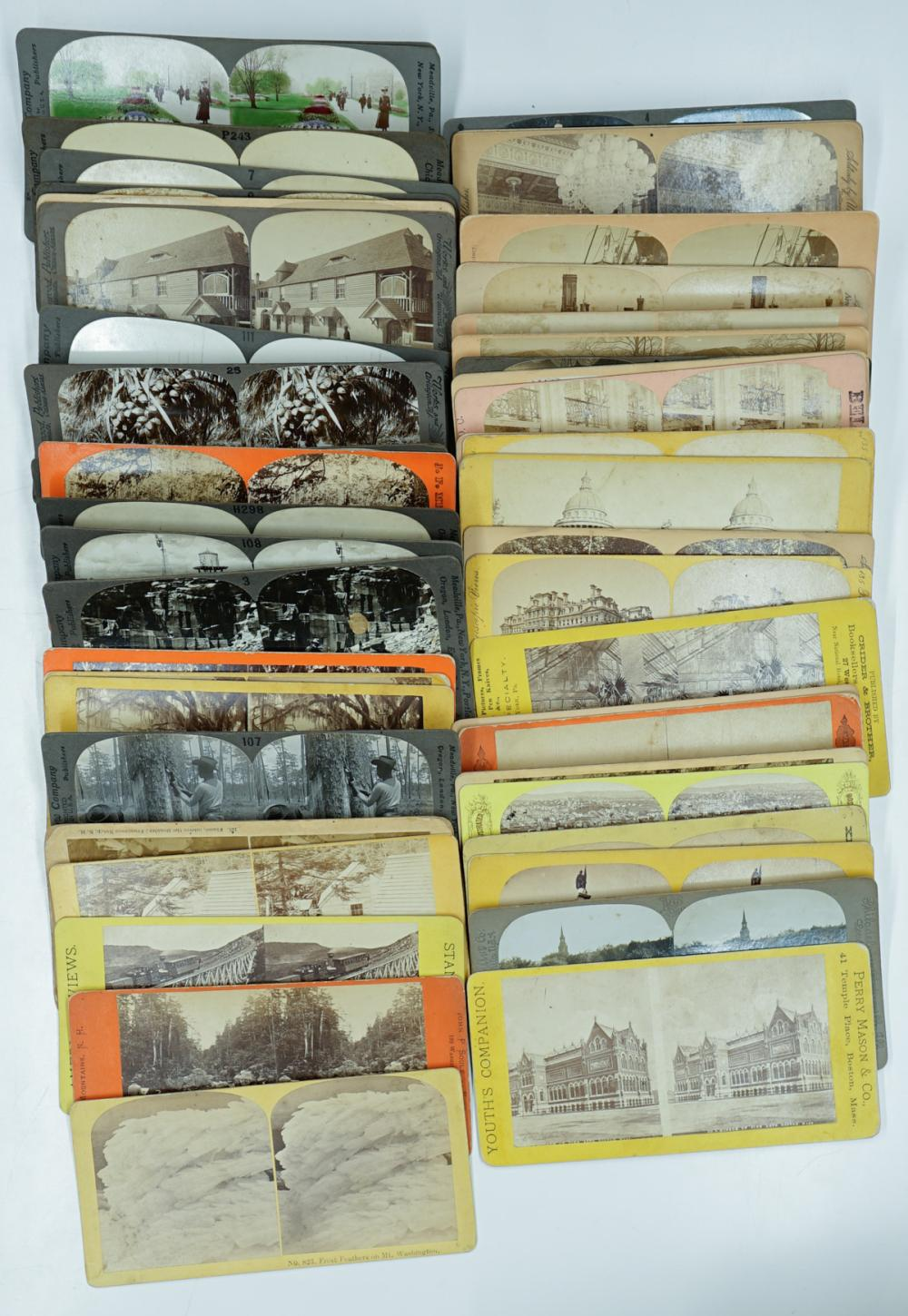 Lot 305: Antique Stereoviews [East Coast U.S] (48)