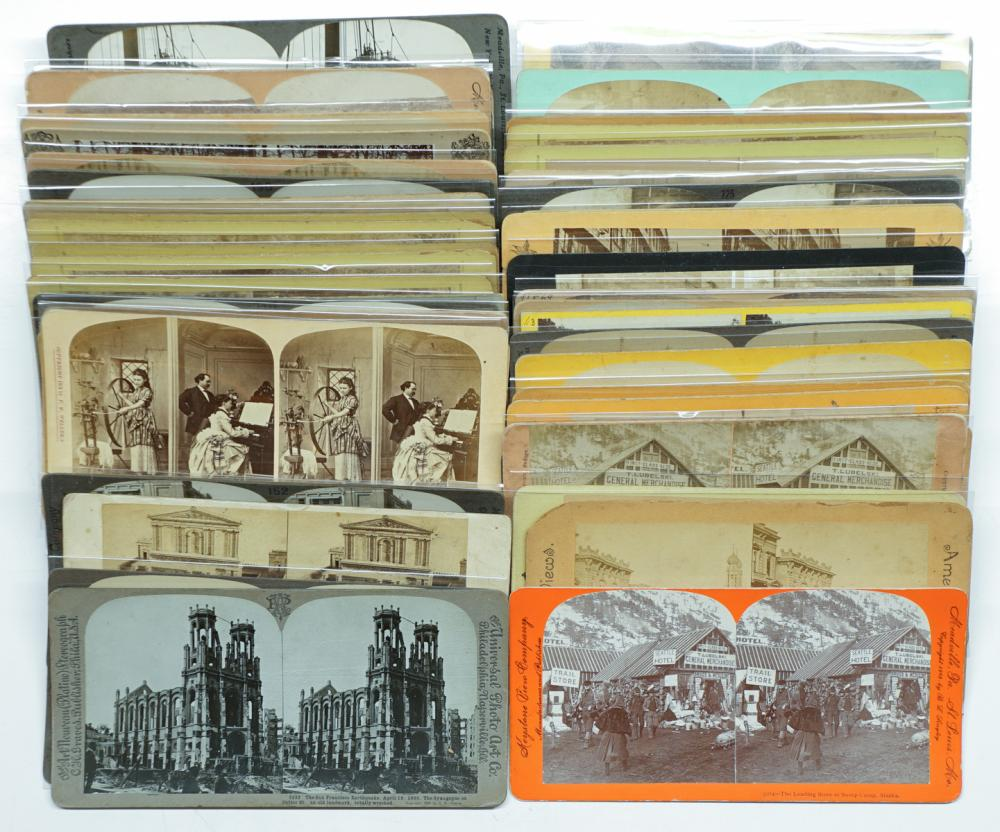 Lot 315: Antique Stereoviews [Scenery] (54)