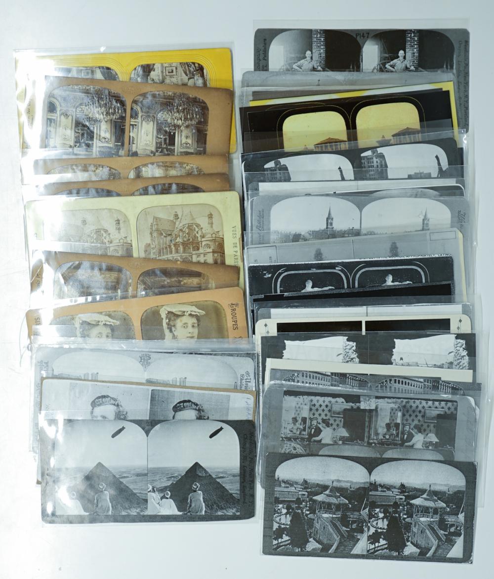 Lot 325: Antique Stereoviews [Magazines, Tissue] (42)