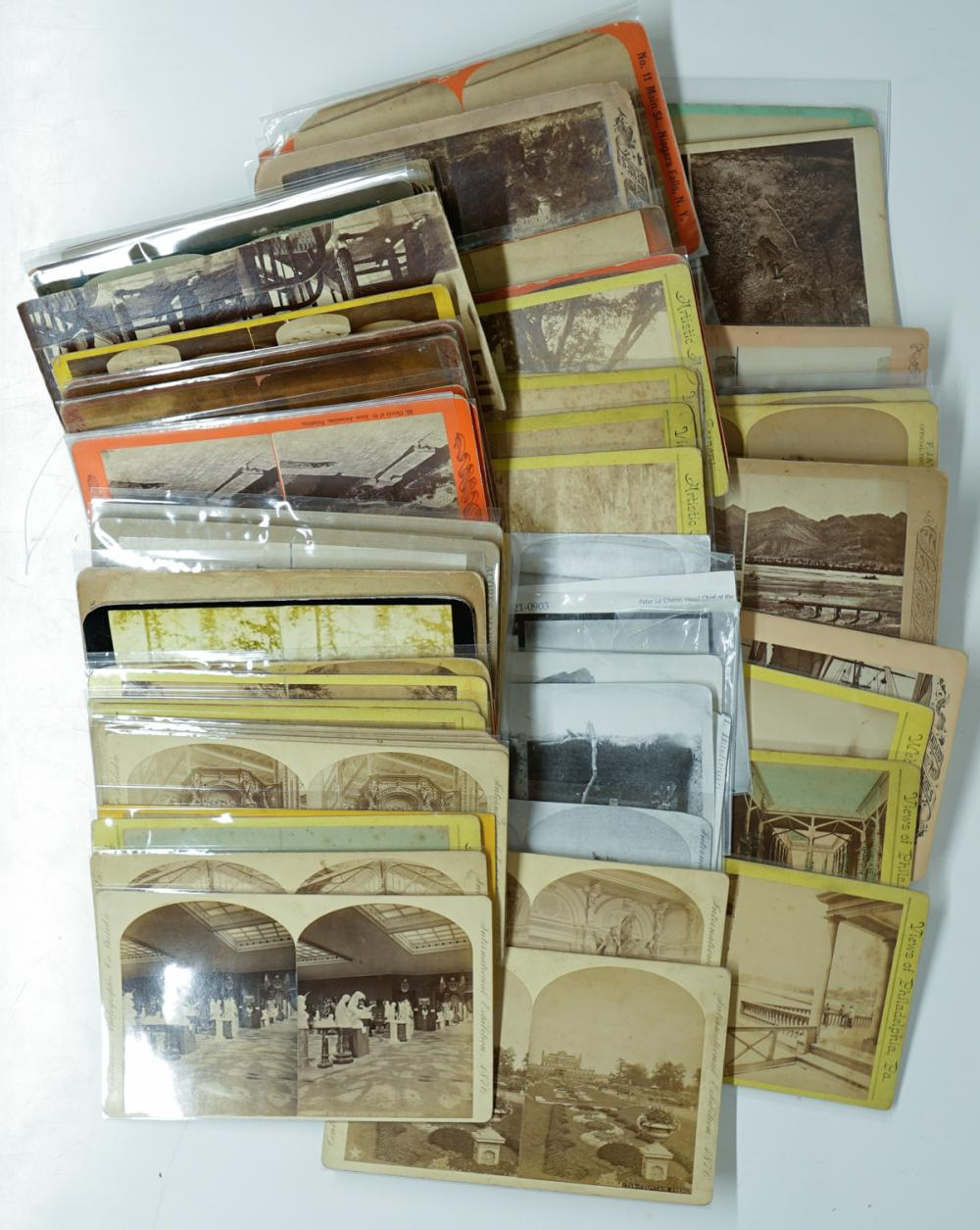 Lot 335: Antique Stereoviews [Oversized] (78)