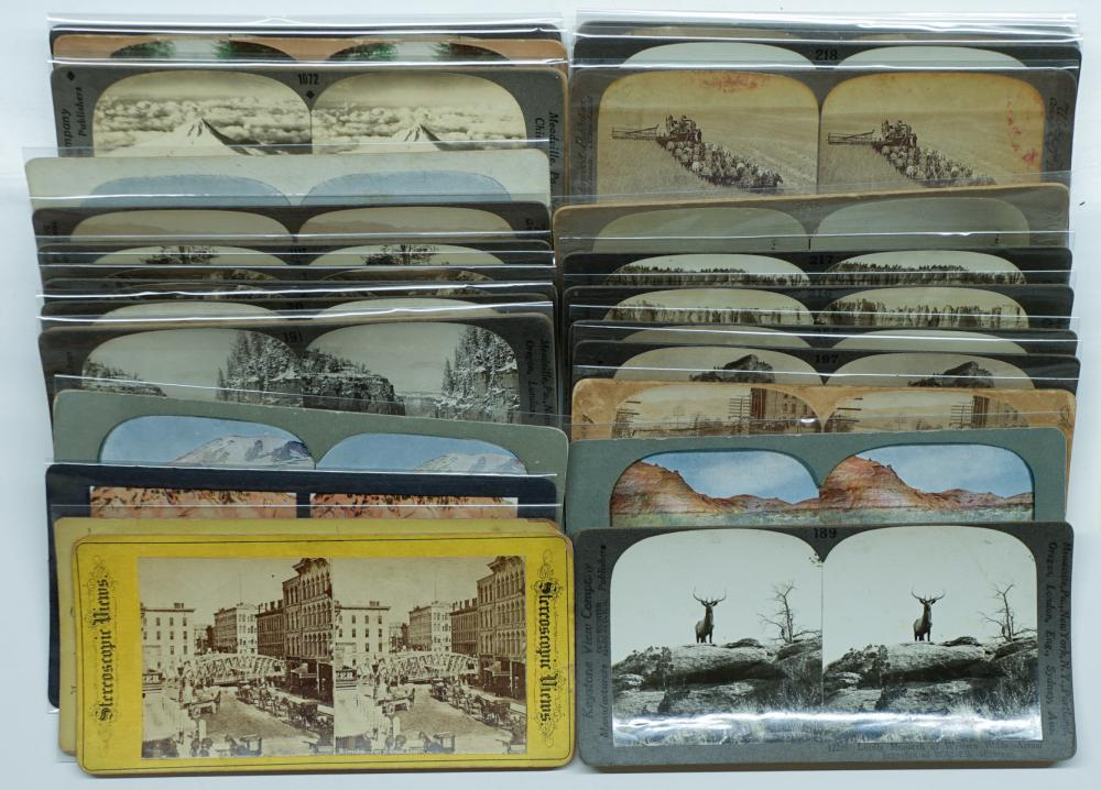Lot 319: Antique Stereoviews [West Coast States] (32)