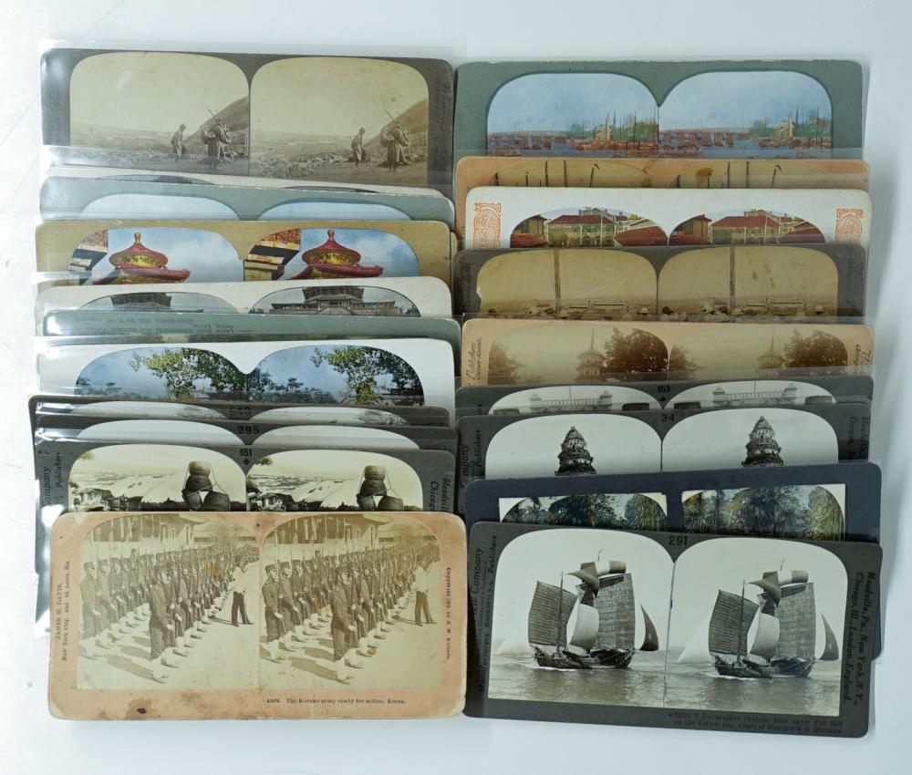Lot 340: Antique Stereoviews [East Asia] (21)