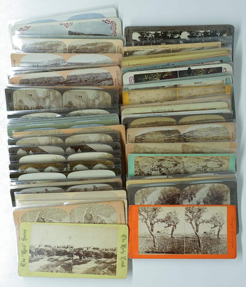Lot 346: Antique Stereoviews [Israel] (56)