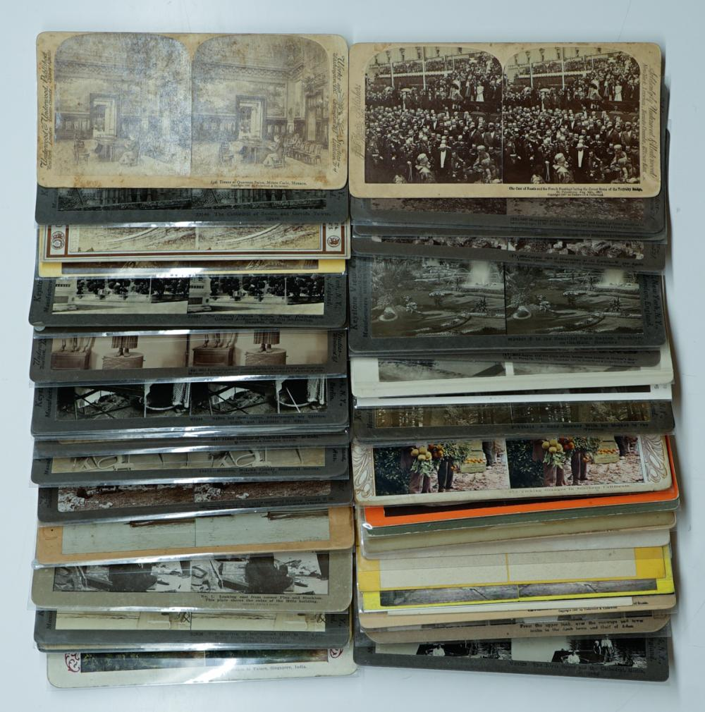 Lot 376A: Antique Stereoviews [Assorted Topics[ (36)