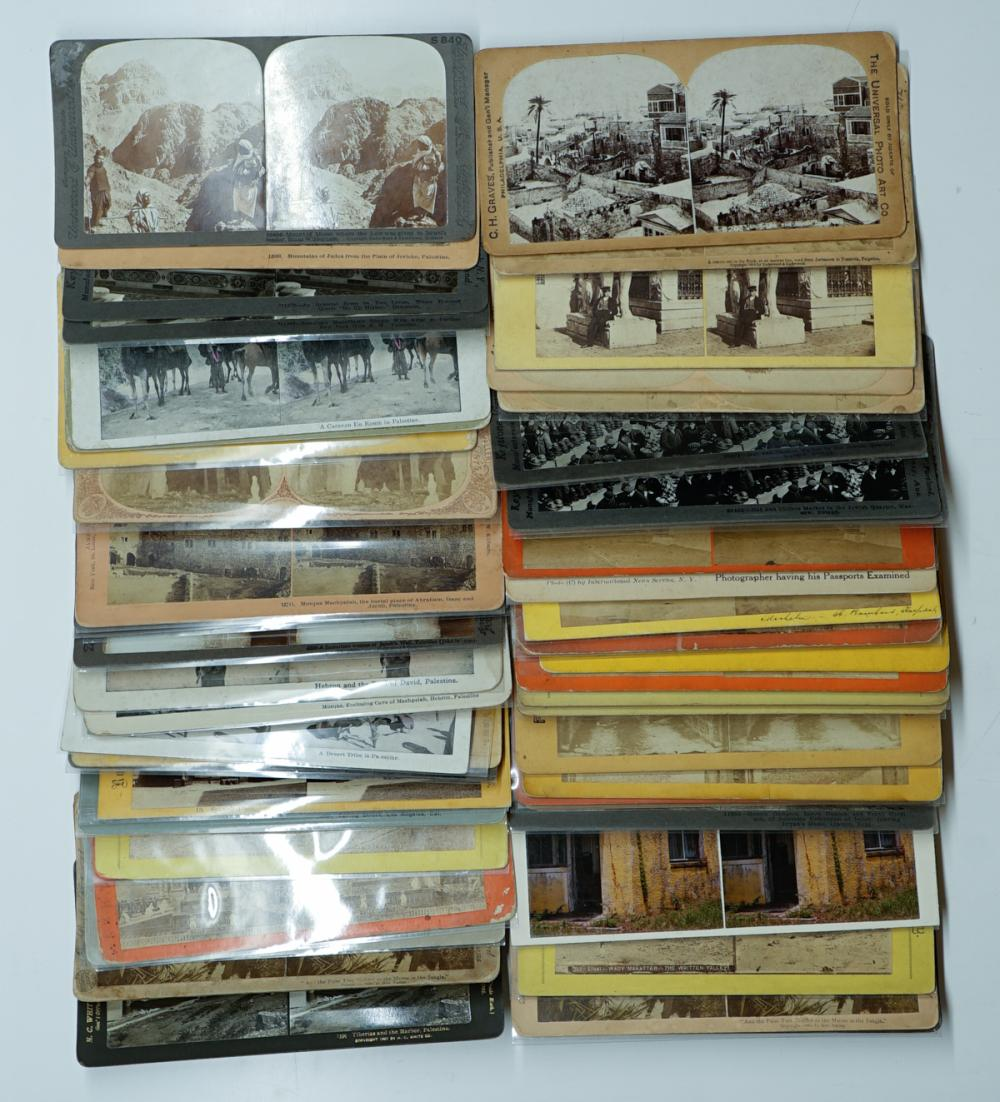Lot 376B: Antique Stereoviews [Assorted Topics[ (50)