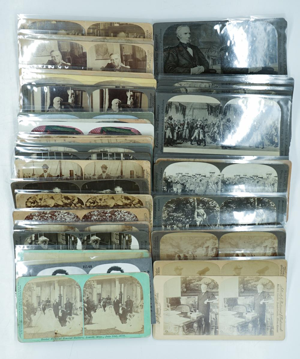 Lot 376: Antique Stereoviews [People and Events] (43)
