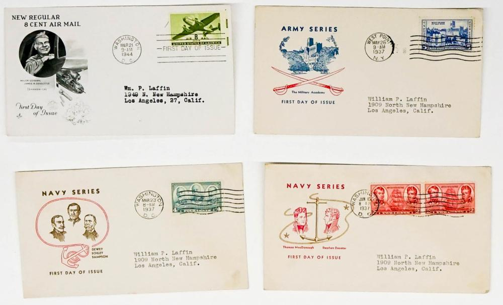 Lot 381: 1930's/1940's U.S. Military First Day Covers (18)