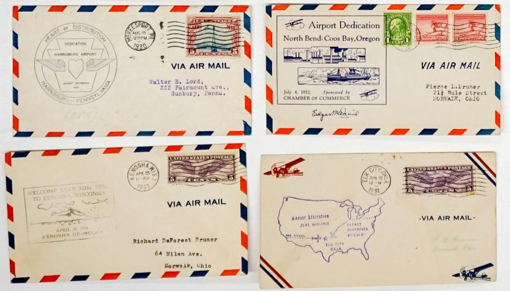 Lot 382: 1929-1932 Air Mail Covers (26)