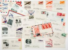 Lot 385: 1930's/40's U.S. Air Mail First Day Covers (24)