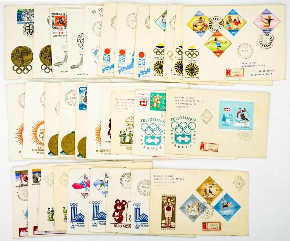 Lot 387: Hungary Olympics Commemorative Covers (32)