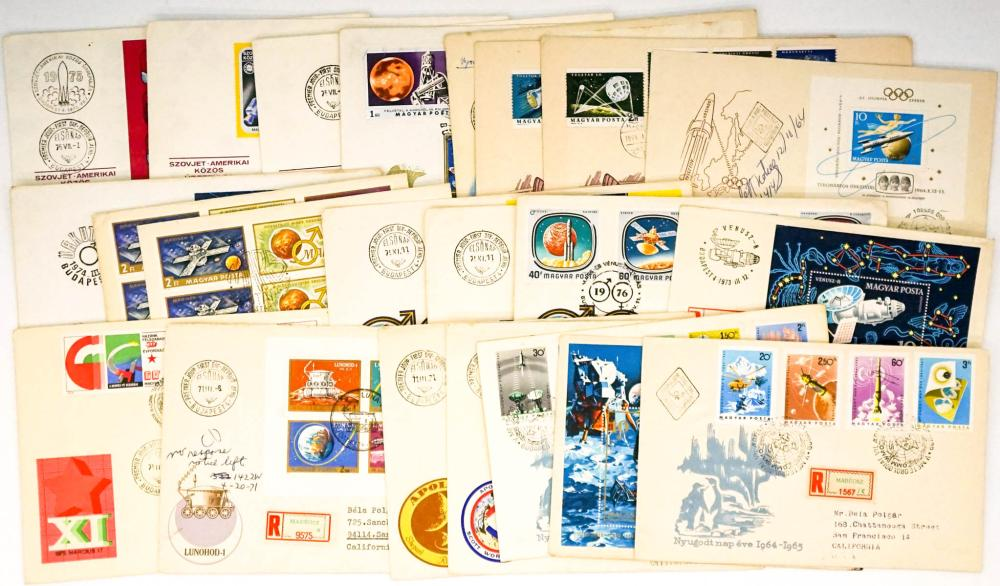 Lot 389: Hungary Space Travel Commemorative Covers (22)