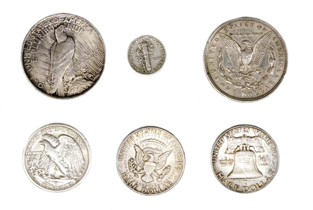 Lot 391: Face Value $3.60 U.S. Silver Coins