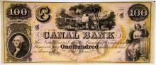 Lot 395: Canal Bank $100 19th Century Note